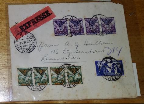Vouwbrief uit 1884 van de Nederlandsche Stoombleekerij Nijverdal.