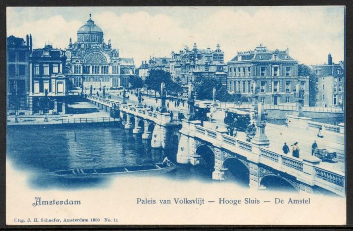 Ansichtkaart van Amsterdam.