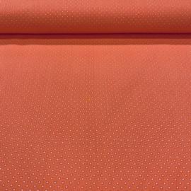 katoen oranje met blokje