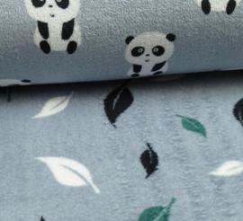Wellness panda blauw of blaadjes