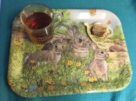 Dienblad konijnen