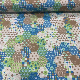 Anti - plas mat katoen en fleece (eigen kleur keuze)