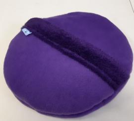 anti-plas kussen de luxe geheel van effen fleece (eigen kleurkeuze)
