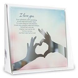 I love you - Silver Silhouette