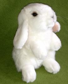 pluche konijn 19 cm  wit
