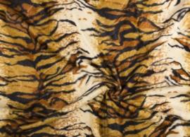 Dierenprint velboa tijger geel