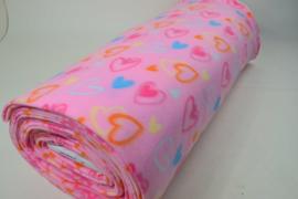 Roze - gekleurde hartjes 10