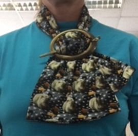 Brons kleurige sjaal klem