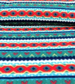 Polarfleece norway gekleurd groen/geel