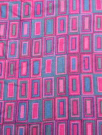 Roze/blauw rechthoeken