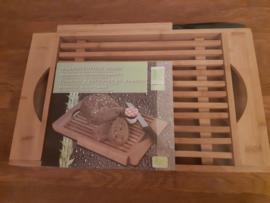 Bamboe snijplank met mes