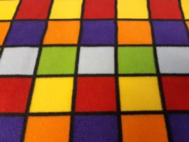 Gekleurde blokken fleece