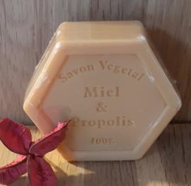 Zeskantige honingzeep met propolis, plantaardig