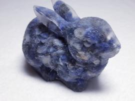 Urn konijn 7.5 x 5.5 cm met Sodaliet