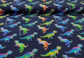 Katoen tricot dinosaurus