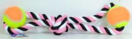 Speeltouw met 2 Ballen roze