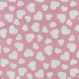 Roze met witte hartjes