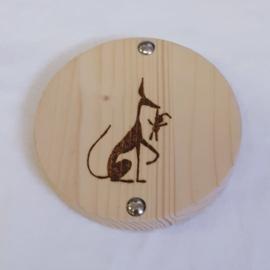 Rond houten plankje voor shampoo bar (3)