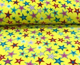 Teddy fleece anti pilling ster geel (binnenkort verkrijgbaar)