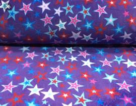 Wellness paars gekleurde sterren