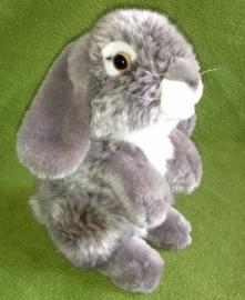 pluche konijn 19 cm  grijs-wit