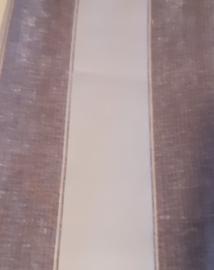 Grijs met bedrukte fluweel strepen