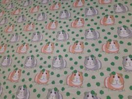 Katoen tricot print – cavia laatste stuk 100 x 118