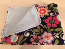 Anti - plas mat bedrukte en effen fleece (eigen kleur keuze)