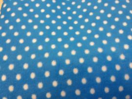 kobalt/turkoois blauw met witte stip
