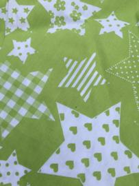 Lime groen met sterren