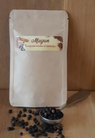 Magun - Zwarte Peperkorrels Bio navulzakje 25 of 50 gram