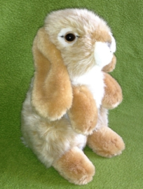 pluche konijn 19 cm beige wit