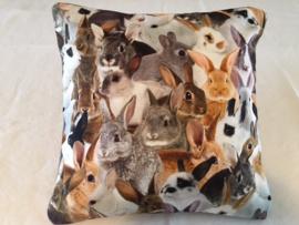 Kussen 40 x 40 konijnen