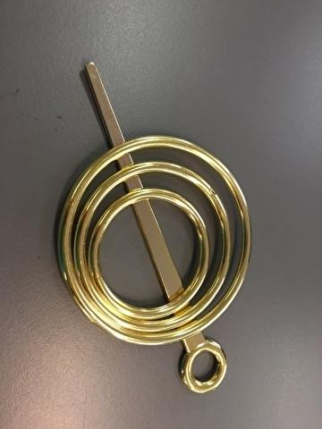 Sjaal klem, goud kleurige ringen