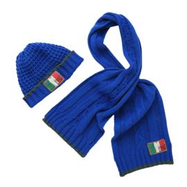 Vingino Vazio Boys set sjaal en muts Blauw Maat S/M