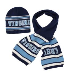 Vingino Vernon set Sjaal en muts Blauw L/XL