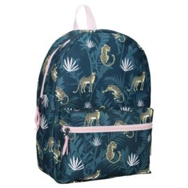 Milky Kiss Rugzak Stay Cute Jungle Blauw