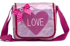 Zebra Trends flaptasje Love roze