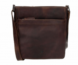MicMac Bags Schoudertas Colorado Donkerbruin