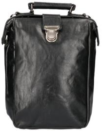 Leather Design Leren Rugzak & Schoudertas Zwart