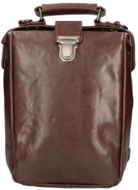 Leather Design Leren Rugzak & Schoudertas Bruin