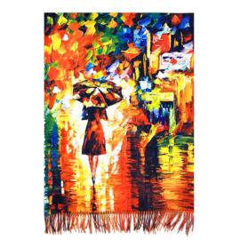 """Sjaal Leonid Afremov """"Rain Princess"""""""