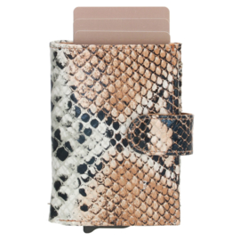 Charm Safety Wallet / Pasjeshouder Leer Taupe