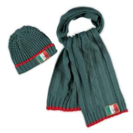 Vingino Vazio Boys set sjaal en muts Wood Green Maat S/M