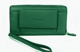 Exclusive Clutch & Wallet Mosgroen Leder