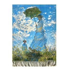"""Sjaal Claude Monet """"Vrouw met Parasol"""""""