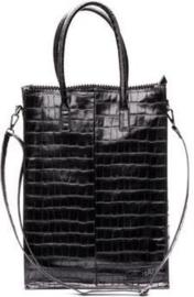 Zebra Trends Dames Handtas Croco Zwart