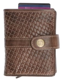 Leather Design Safety Wallet M Bruin
