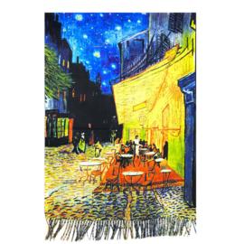 """Sjaal  Vincent van Gogh """"Terras bij nacht"""""""