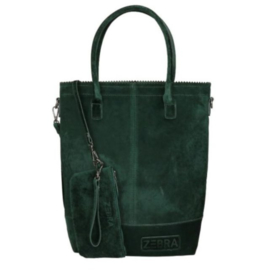 Zebra Trends Natural Bag Kartel Velvet Groen